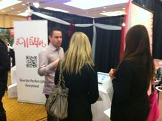 Co-founder, Nathan Leggatt, explaining iWishfor to future brides at the Wedding Fair. Conference Board, Wedding Fair, Co Founder, Brides, Future, Gifts, Dresses, Fashion, Vestidos