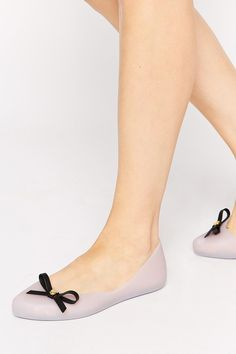 Mel By Melissa Dreaming Bow Frost Flat Shoes