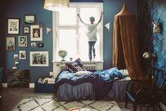 Igors rum – blått och senap