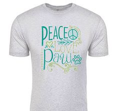 """Our new """"Peace Love Paw"""" tees + hoodies are here! / Nashville Paw"""