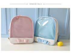 MSMO 2017 Summer Candy Clear Bow Backpacks Solid Color Cute Girls School Bags for Girls Transparent PU Leather Women Backpack