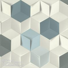 Perfect for the modern home, this geometric wallpaper features a three-dimensional cube print. Its off-white, teal and light blue pattern is accented by shading for a realistic look. Catteau is an unpasted, non woven wallpaper. Spotted Wallpaper, Scenic Wallpaper, Brick Wallpaper Roll, Metallic Wallpaper, Embossed Wallpaper, Wallpaper Panels, Rose Wallpaper, Geometric Wallpaper, Wallpaper Samples