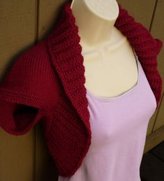 Cranberry Knit Shrug  Medium   red cranberry bolero by zuuzuu