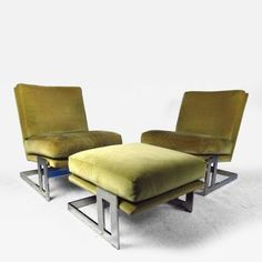 Lounge Chairs by Milo Baughman for Thayer Coggin by Milo  Baughman