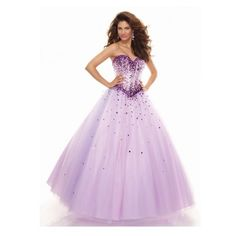 Sweetheart Floor Length Tulle Ball Gown Purple Prom Dress Opa0009 (€180) ❤ liked on Polyvore featuring dresses, gowns, long dress, long pink dress, pink gown, purple gown, prom gowns and pink dress