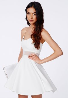 Meshia Strappy Mesh Swing Dress - Swing Dresses - Missguided | Ireland