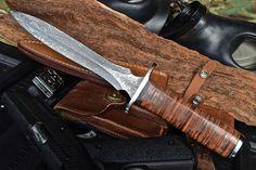 CFK USA Custom Handmade Damascus Vietnam Combat Recon Trench Dirk Dagger Knife #CFKCutleryCo