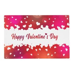 Lovely Happy Valentine& Day Hearts Greeting Card - valentines day gifts love couple diy personalize for her for him girlfriend boyfriend
