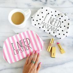 Cute makeup bags ⓟinterest:@AudHolmes