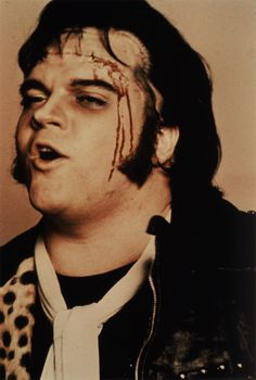"""1975 Meat Loaf plays Eddie in """"The Rocky Horror Picture Show"""". Rocky Horror Picture Show Costume, Rocky Horror Costumes, Rocky Horror Show, The Frankenstein, Film Movie, Movies, Creatures Of The Night, Best Rock, Halloween Costumes"""