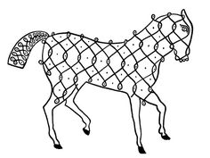 bibliodyssey.blogspot.com - Indian Designs d - horse made from line drawing symbol - clipart