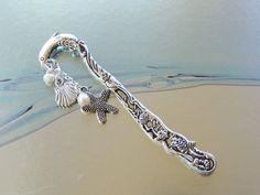 Dolphin Bookmark Metal Bookmark Beaded by pnljewelrydesigns, $10.00