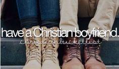 Bucketlist check! Yes my boyfriend is a Christian :)