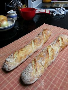 cook between class: Baguette Variations of the No Knead Bread: Crustic Baguette