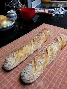 cook between class: Baguette Variations of the No Knead Bread: Crustic Baguette
