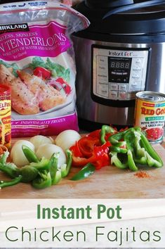 Instant Pot Chicken Fajitas (with a slow cooker option)