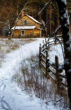 Rankinen House - Winter Photograph  - Rankinen House - Winter Fine Art Print
