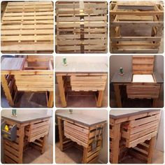 Kitchen Cabinets Made From Pallets whyrestore how-to: create a bathroom vanity from used and donated