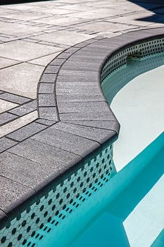 Looking to give your poolside, seat walls or steps a clean, softer appearance? Our Bullnose pool coping is the perfect choice. Swimming Pools Backyard, Swimming Pool Designs, Pool Landscaping, Pool Coping, Outdoor Steps, Outdoor Fire, Outdoor Living, Backyard Patio Designs, Backyard Ideas