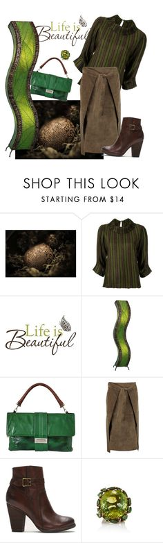 """""""Life is beautiful!"""" by denibrad ❤ liked on Polyvore featuring Gig, Brewster Home Fashions, Universal Lighting and Decor, Lanvin, Joseph and Frye"""