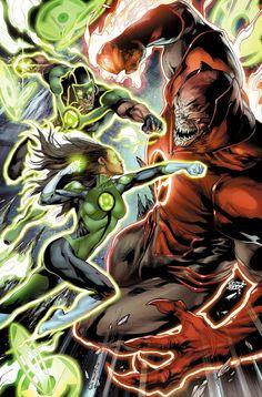 Green Lanterns # 5 - Cover by Jay Leisten, Rod Reis & Robson Rocha Green Lanterns, Marvel Dc Comics, Cosmic Comics, Comic Book Covers, Comic Books Art, Book Art, Red Lantern Corps, Dc Rebirth, Renaissance