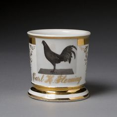 Game Cock Breeder's Occupational Shaving Mug - Cowan's Auctions
