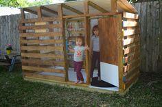 sweetpotato peachtree: modern DIY outdoor playhouse: tour and how to #kidsplayhouseplans