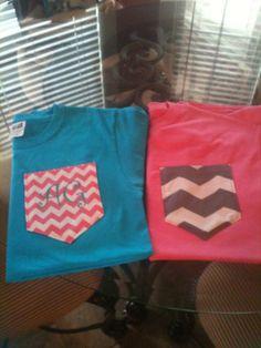 Inital Pocket TShirts by BrooklynsBoutique2 on Etsy, $24.00 Custom Made Clothing, Pocket, Sweatshirts, Sweaters, T Shirt, Etsy, Clothes, Fashion, Outfit