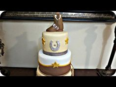How to Make a Fondant Cowboy Boot Topper - YouTube