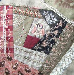 how to do crazy patchwork Crazy Quilting, Crazy Quilt Stitches, Crazy Quilt Blocks, Hand Work Embroidery, Embroidery Patterns, Quilt Patterns, Block Patterns, Embroidery Stitches, Quilting Projects
