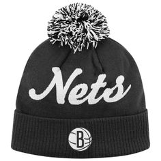 Brooklyn Nets Pom Beanie Mitchell Ness Hats Caps  14.99 or any nets hat  with a pom pom thats cute e97fbf081