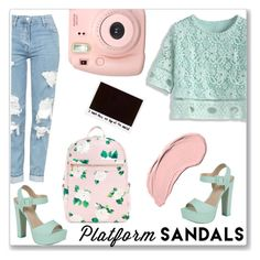 """""""Picture"""" by menskah ❤ liked on Polyvore featuring Call it SPRING, Chicwish, Topshop, NYX, Fujifilm and platforms"""