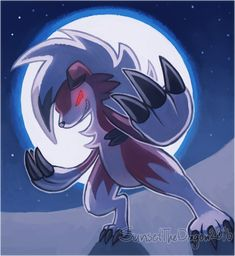 Come at me!! by SunsetTheDragon.deviantart.com on @DeviantArt (Midnight Lycanroc)