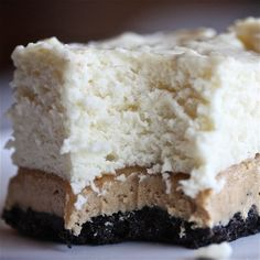 Peanut Butter No-Bake Marshmallow Cheesecake Bars