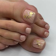 Gel Toe Nails, Feet Nails, Pedicure Nails, Toe Nail Art, Gel Nail Art Designs, Pedicure Designs, Nails Design, Pretty Toe Nails, Pretty Nail Art
