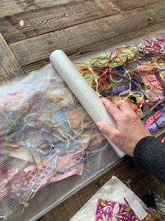 Embroidery Fabric, Fabric Art, Fabric Manipulation Techniques, Fabric Manipulation Tutorial, Water Soluble Fabric, Crumb Quilt, Crazy Patchwork, Fabric Journals, Textile Fiber Art