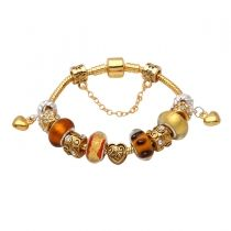 Mothers day gift! Golden murano glass beads mother daughter dangle charm beads European bracelet