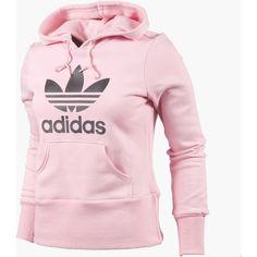 Women's Adidas Originals Trefoil Hoodie ($55) ❤ liked on Polyvore