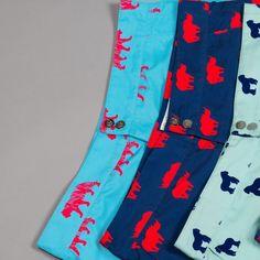 Galago Joe mens tailored swim shorts in Gorilla, Tiger and Rhino prints Mens Tailor, Kids Swimwear, Swim Shorts, Pajama Pants, Swimming, London, Prints, Collection, Fashion