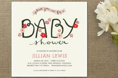 The Cheerful Baby Baby Shower Invitations by MAEK Paper at minted.com