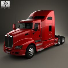 Kenworth T660 Tractor Truck 2008 3d model from humster3d.com. Price: $75