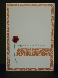 Simple birthday design using First Edition J'Adore papers
