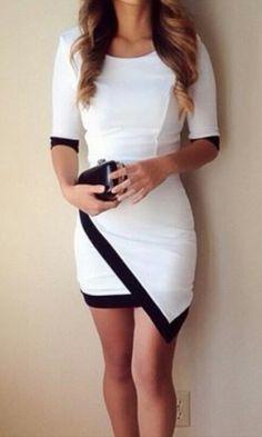 Vestido asimétrico × ☆☆