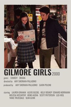 Iconic Movie Posters, Iconic Movies, Estilo Rory Gilmore, Jess Gilmore, Gilmore Girls Poster, Gilmore Girls Music, Rory And Jess, Glimore Girls, Girl Posters
