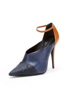 Narciso Rodriguez Ankle Strap Pointed-Toe Snakeskin Pump $1,095 $549 Gilt