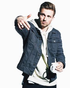 throwing g signs whilst sipping coffee photo x by marcusbutler Marcus Butler, Coffee Photos, Phan, Youtubers, Fangirl, Eye Candy, Instagram Posts, People, Jackets