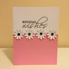 Birthday Card  Birthday Daisies by PrettyWittyPaper on Etsy