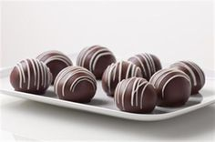 jello triple-chocolate cookie balls. yum!