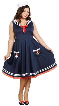 2020 Dreamgirl Women's Plus Size All Aboard and more Career Costumes for Women, Sailor Costumes for Women, Women's Halloween Costumes for Sailor Costumes, Girl Costumes, Adult Costumes, Costumes For Women, Halloween Costumes, Halloween Makeup, Halloween Diy, 1940s Costume, Costume Dress