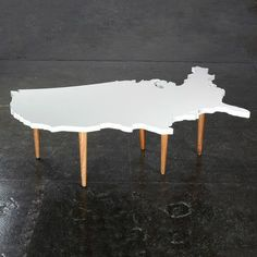 Could make a New Zealand version of this. North and South Island side tables